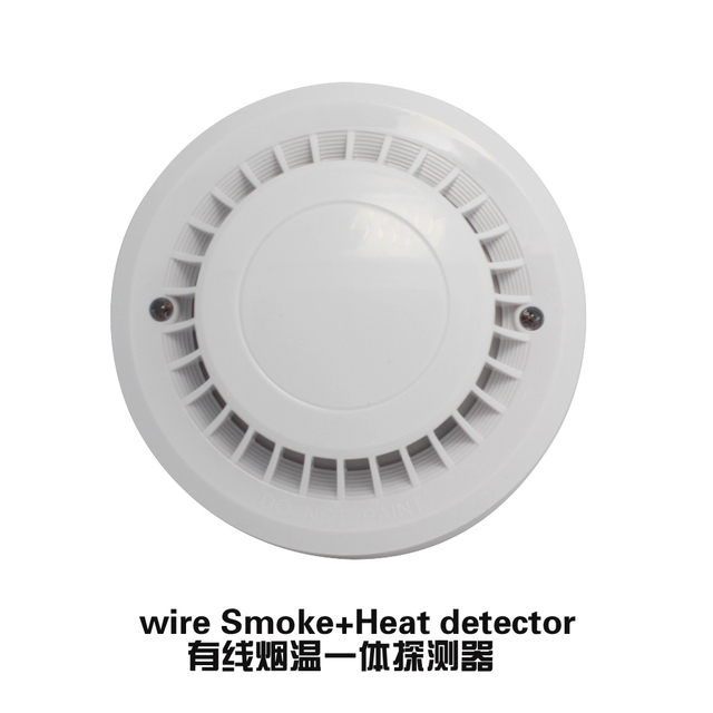 New product wire smoke detector heat sensor Temperature alarm normally close relay output use for home security alarm system