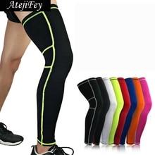1pair Seamless Leggings Elastic Legwarmers Outdoor Sports Running Kneepad Basketball Fitness cycling long socks knee protector