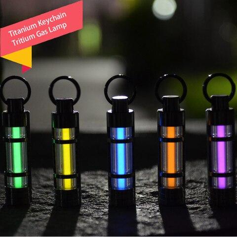 titanio chaveiro tritio lampada de gas luzes automaticas anel chave titanio economia de vida luzes
