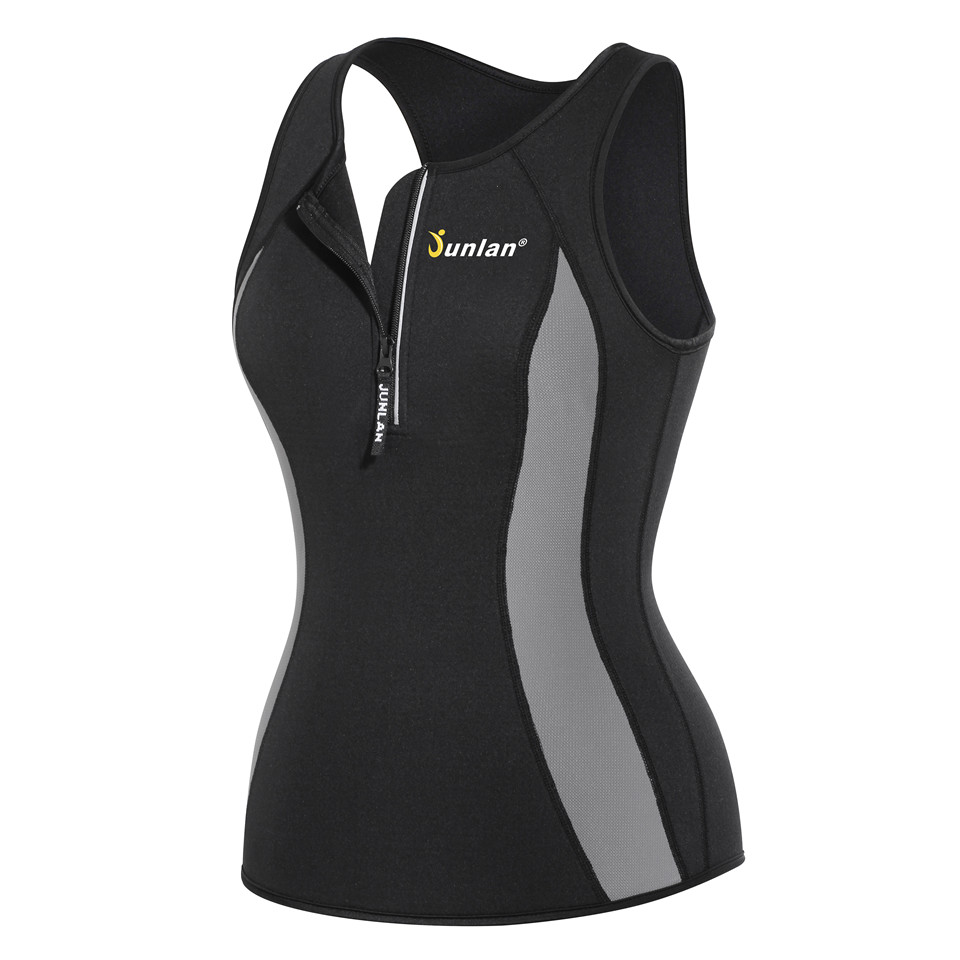 00a6d5ae36b Aliexpress.com   Buy Junlan Women Bodysuit Sauna Vest Neoprene Tummy  Control Waist Trainer Hot Shapewear Tops Corset Corrective Modeling Strap  Shaper from ...