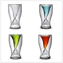 купить Creative Mermaid Cocktail Glass Cup 100ml Wine Double Walled Layer Glasses Mugs Whiskey Vodka Shot Glass Cute Lady Beer Mug Cups дешево