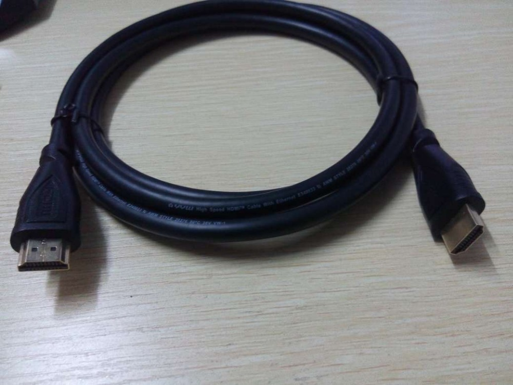 HDMI cable connection 3D computer data cable TV HD line 3d 4k flat wire transfer vga dvi av