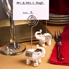 Fast delivery! Wedding Favor Good Luck Elephant Place Card Holders Shower Favors Wholesale