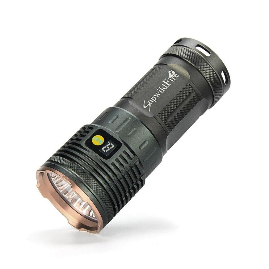 Supwildfire 50000LM 15 x XM-L T6 LED Power Digital Display Hunting Flashligt hk