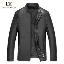 Dusen Klein Luxus Frühjahr leder jacken für mann echtem schaffell dünne/Business schwarz mantel marke 61S1630