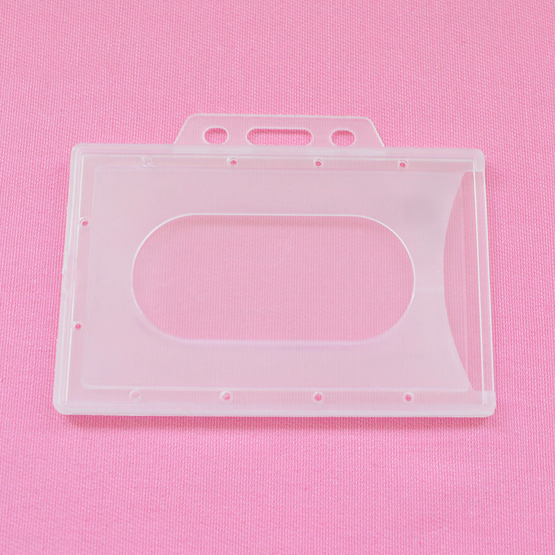 New Arrival 90*66mm Translucent Credit Hard Card Holders Bank Card Neck Strap Card Bus ID holder students Identity badge Box