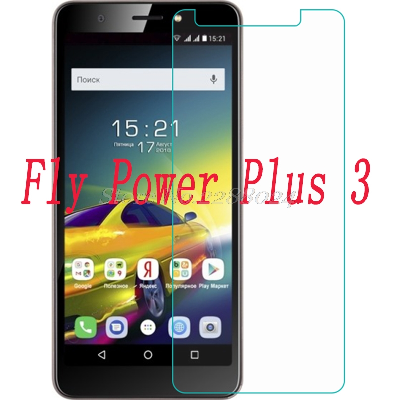 Smartphone mobile Tempered Glass  for Fly Power Plus 3  Plus3 9H Explosion-proof Protective Film Screen Protector cover phone