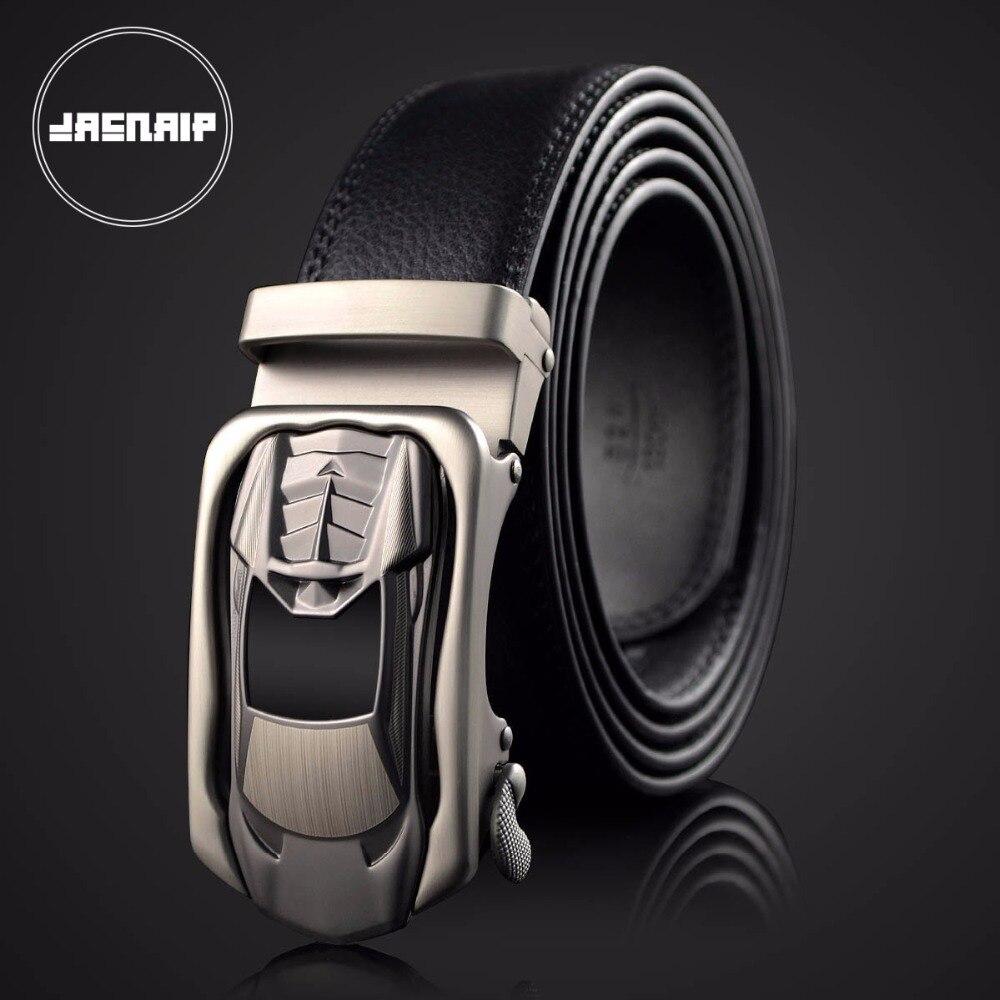 New Brand designer mens belts luxury leather belts for men car <font><b>sharped</b></font> buckle man <font><b>Jeans</b></font> pants genuine leather belt male strap