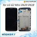 1 peça frete grátis display lcd de tela para lg g2 mini d620 d618 com toque digitalizador com quadro completo