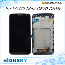 1 piece free shipping screen for LG G2 mini D620 D618 lcd display with touch digitizer with frame complete