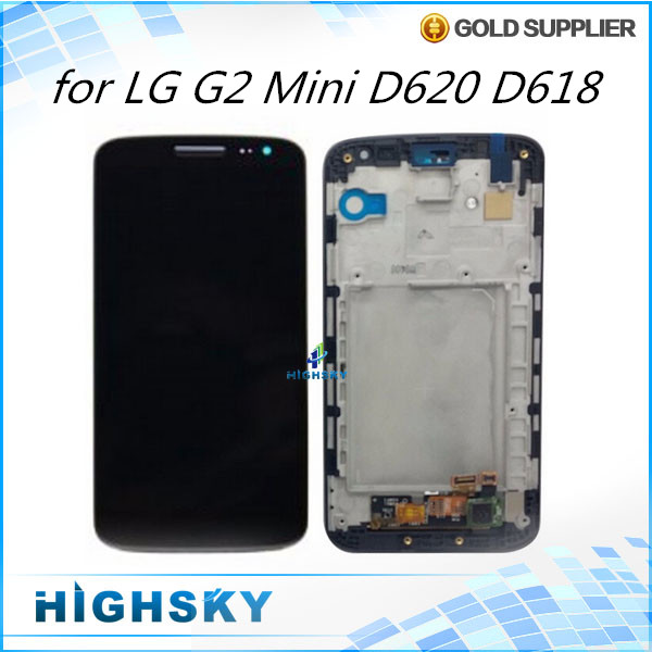 ФОТО 100% Tested Screen for LG G2 mini LCD D620 D618 display with touch digitizer with frame complete Assembly 1 piece free shipping