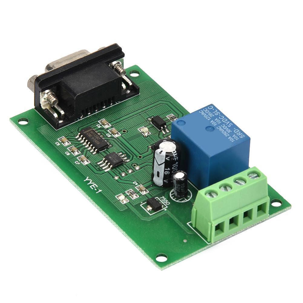 YYE-1 RS232 Serial Port Control Relay Module MCU USB COM Control Switch  5/12/24V PLC RS232 High Quality Wholesale