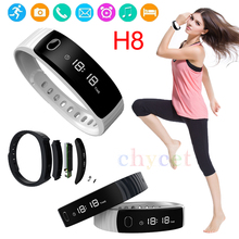 Smart Bracelet H8 Smart Wristband Pedometer Fitness Tracker Sedentary Sleep Monitor H8 Inteligente for iphone/Android
