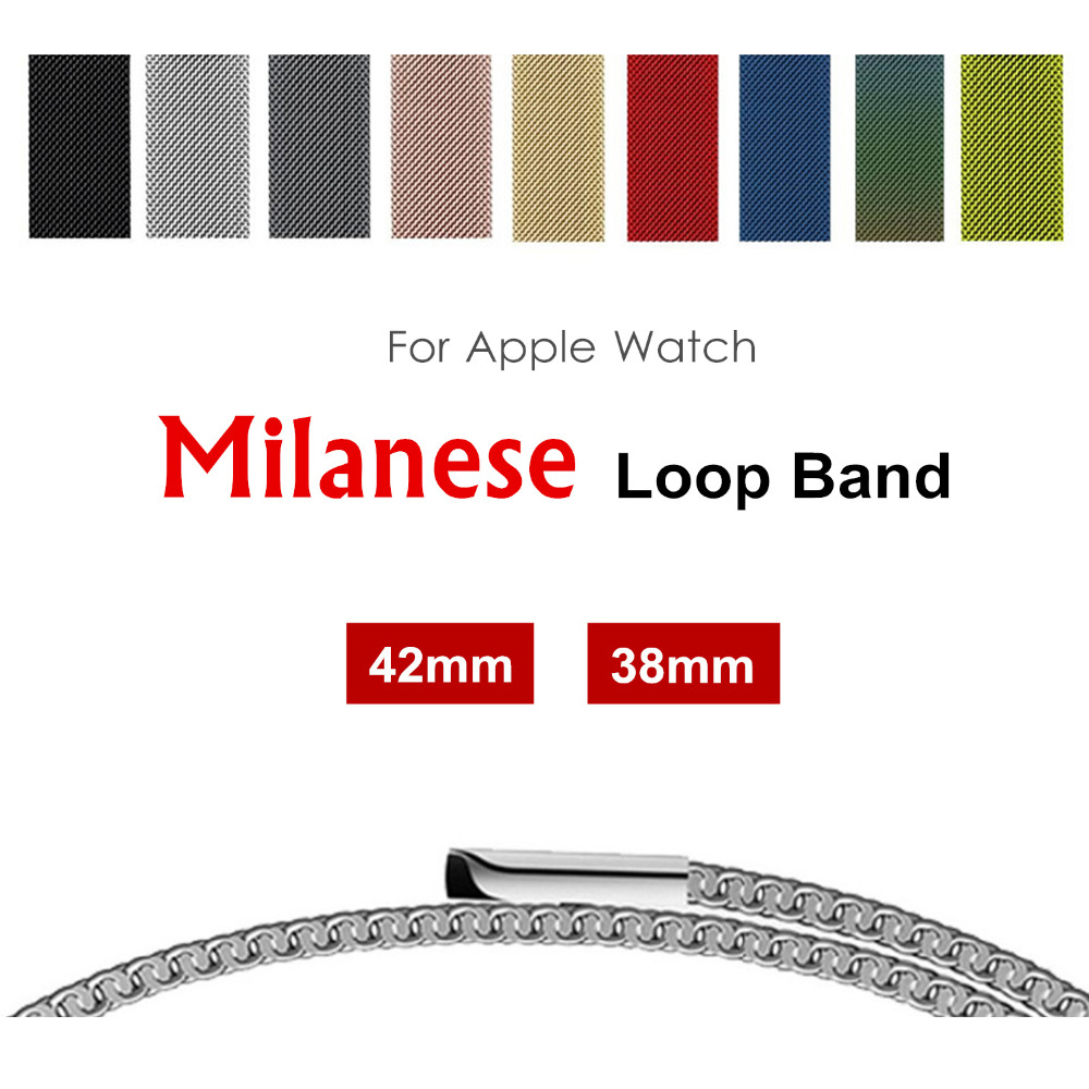 Milanese band for apple watch 42mm 38mm metal strap Bracelet watchbands for iwatch series 3/2/1 Accessories Wholesale prices so buy for apple watch series 3 2 1 watchbands 38mm belt 42mm stainless steel bracelet milanese loop strap for iwatch metal band