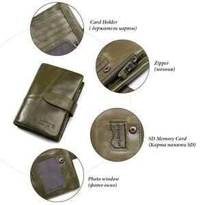 Image 4 - Женский кошелек KAVIS, кошелек из натуральной кожи, кошелек для монет и маленький кошелек, кошелек для денег, зеленый, на молнии, держатель для карт, Perse