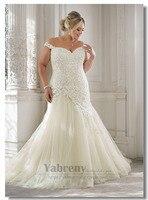 Off the shoulder Wedding dresses Plus Size