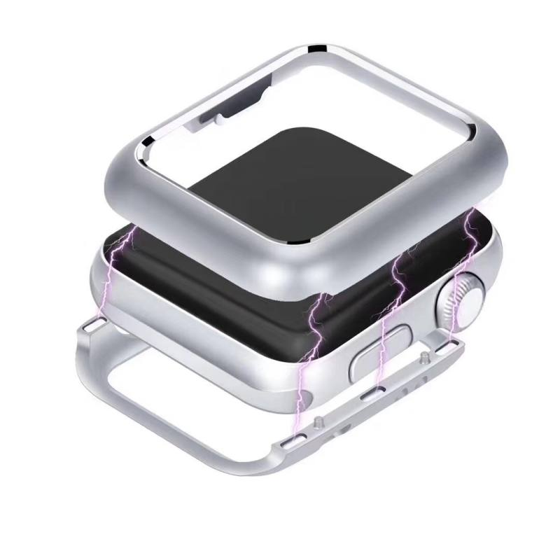 Magnetic Adsorption Metal Frame Protective Case 38mm 42mm For Apple Watch Series 2 3 Luxury Cover Bumper Built-in Magnet