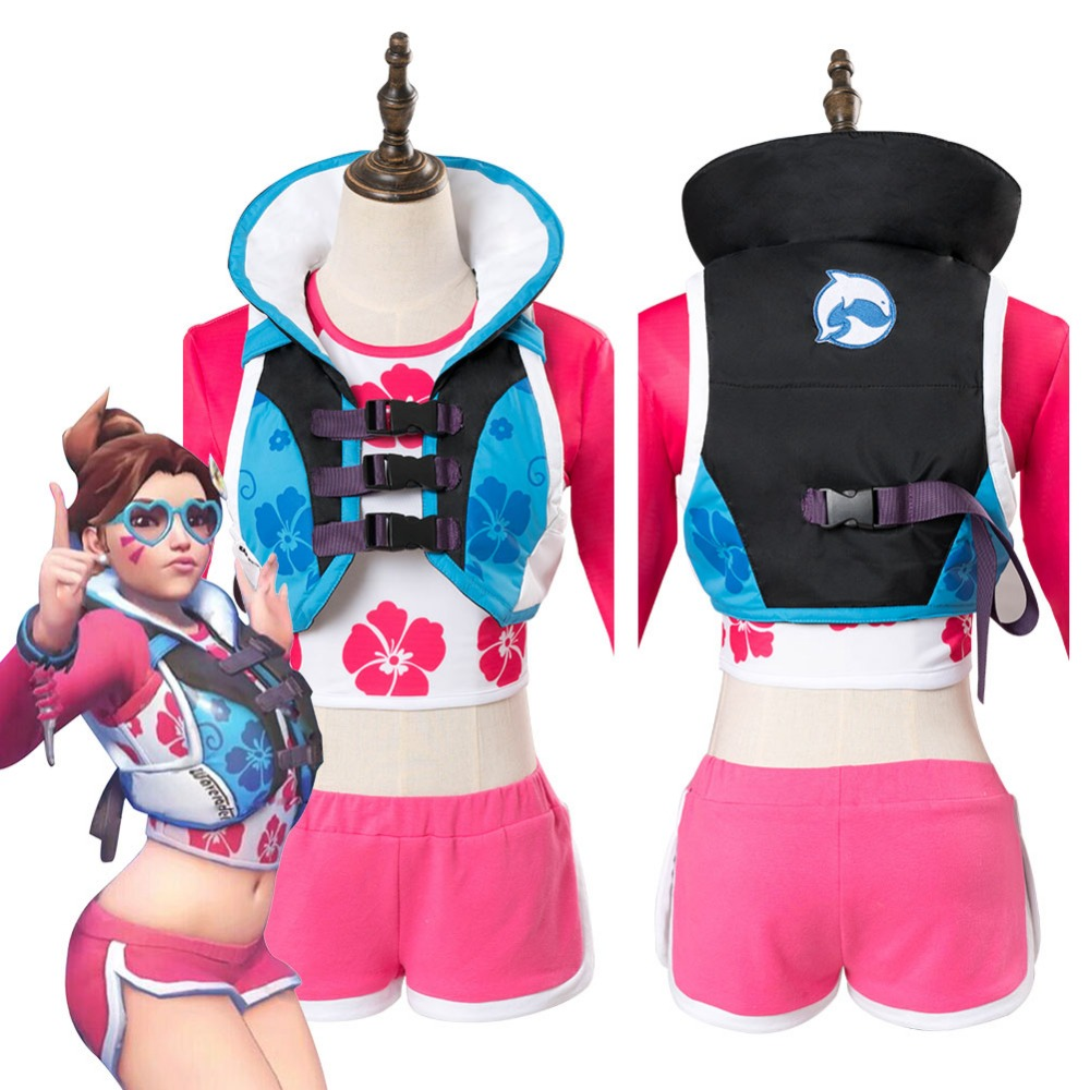 OW D.Va DVA Hana Song Cosplay Costume Waveracer Skin Outfit Adult Women Girls Halloween Carnival Costumes Custom Made