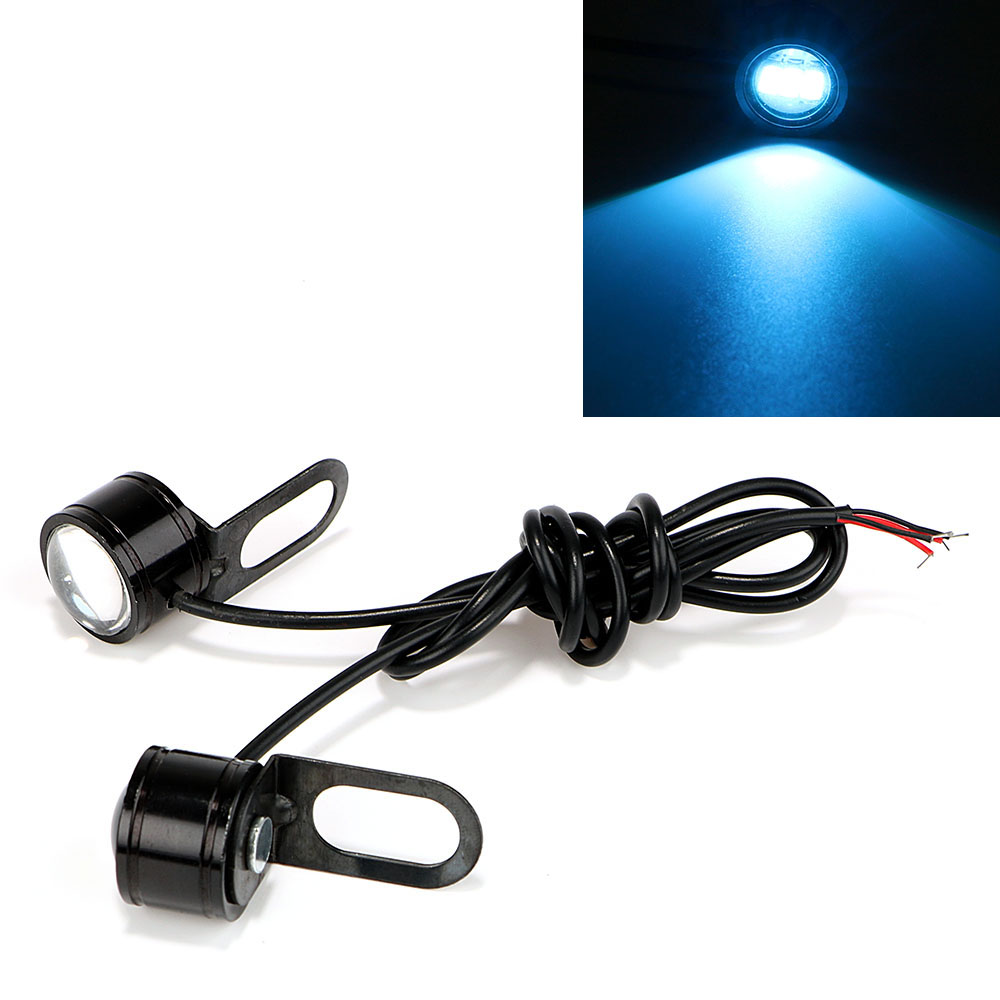 ITimo 2PCS Eagle Eyes Motorcycle Fog Lamp DRL Daytime Running Light DC 12V LED Reverse Backup Light Rearview Mirror Decor
