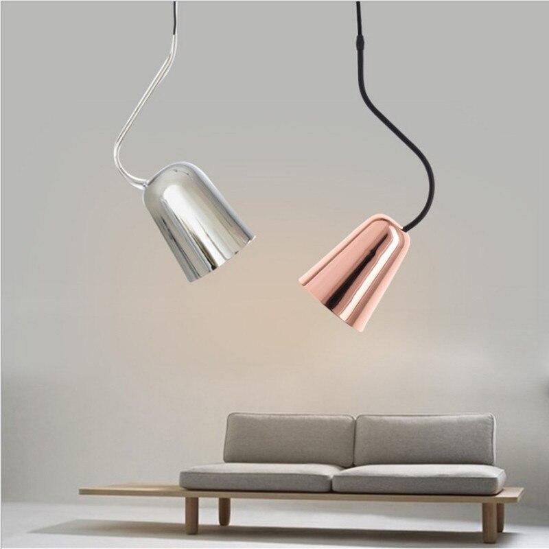 Здесь можно купить  Nordic Pendant Light, plug in hanging pendant lamp Rose Gold/silver Mini Kitchen,bedside,Loft copper color Lamparas Colgantes  Свет и освещение