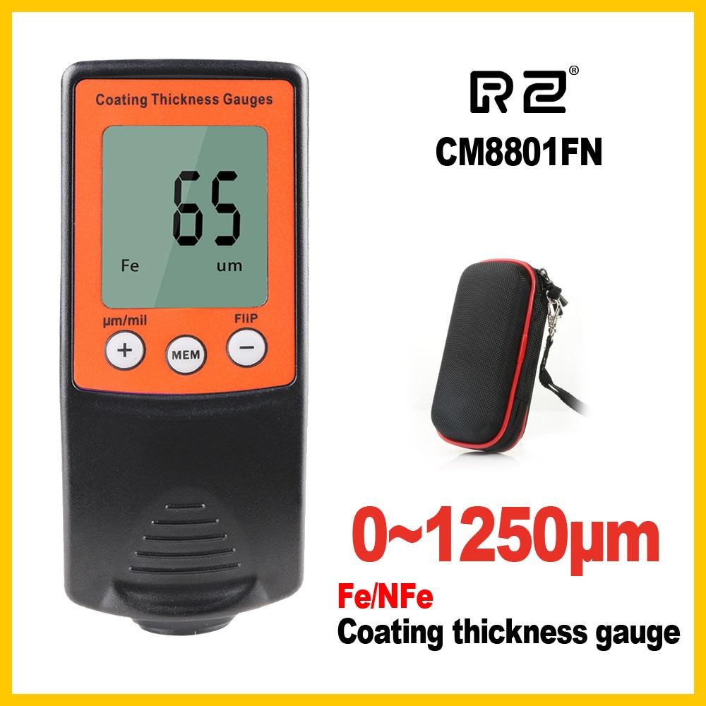 Film Coating Car Automotive Thickness Gauge Gage Thinner Paint Paintwork Varnish Meter Tester CM8801FN FN 2 in 1 1250um CM8801 цена