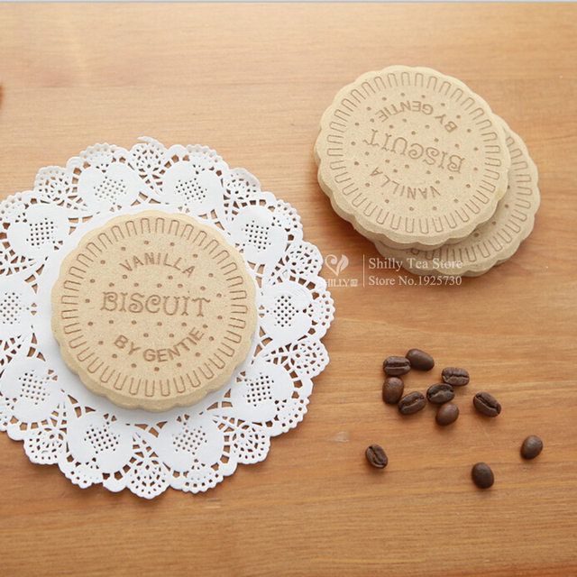 Elegant NOT BE EATEN Wooden Cookie Coaster Biscuits Laser Engraved Table Mats  Dining Placemats Coaster Mat Insulation