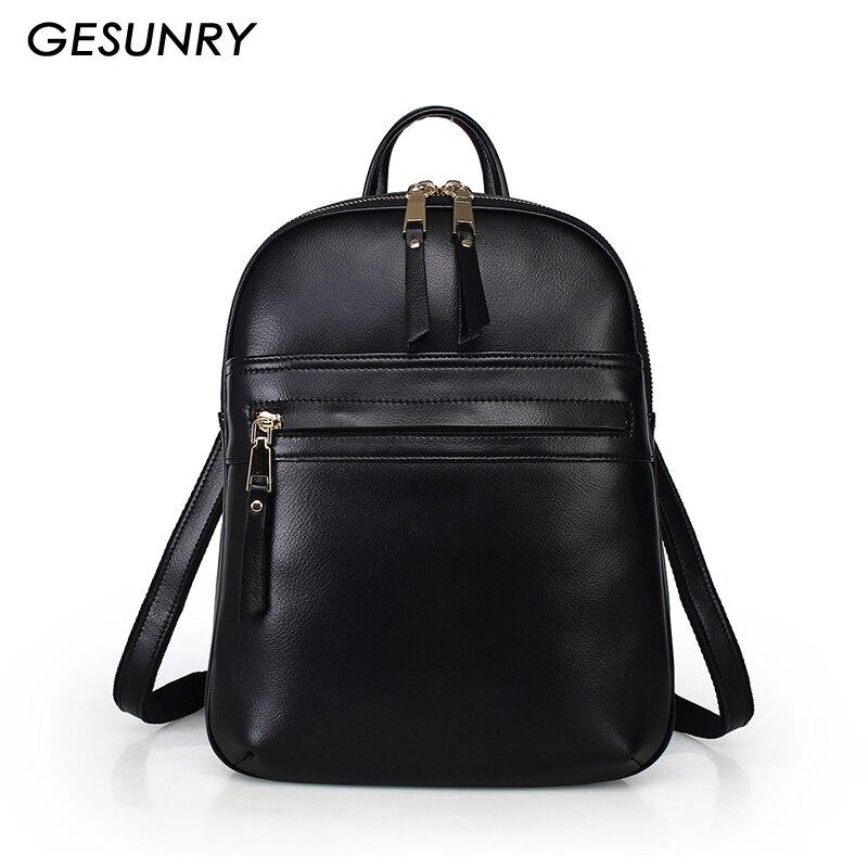 Genuine Leather Backpack Fashion Vintage Women Bag Brand Design Shoulders Backpack High quality Real Leather bag