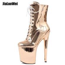 Sexy Stripper Dancer 7 High Heel Platform Gothic Fetish Pole Clubwear Ankle Boots