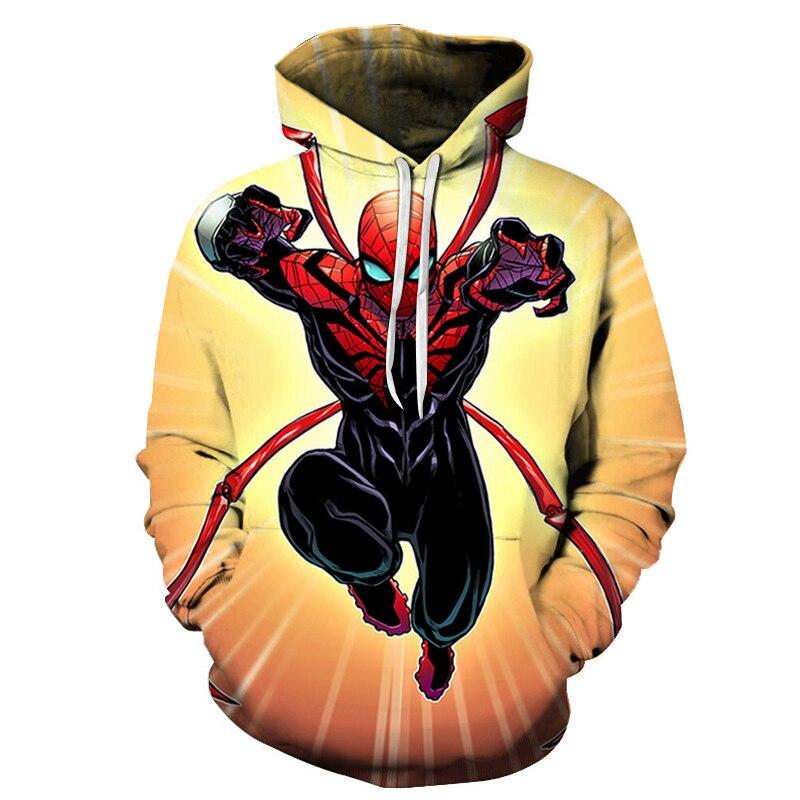 New 2019 Hot Marvel Comics Spiderman 3D Hoodies Men Autumn Fashion Funny Hoodie Hip Hop Men Women Hooded Streetwear Sweatshirts