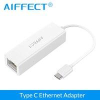 AIFFECT USB 3 1 Type C USB C Male To RJ45 Gigabit Ethernet LAN Network Adapter