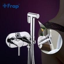 Frap Bidet Faucet Brass Shower Tap Washer Mixer Muslim Shower Ducha Higienica Cold & Water Mixer Crane Round Shower Spray F7505