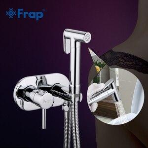 Image 1 - Frap Bidet Faucet Brass Shower Tap Washer Mixer Muslim Shower Ducha Higienica Cold & Water Mixer Crane Round Shower Spray F7505