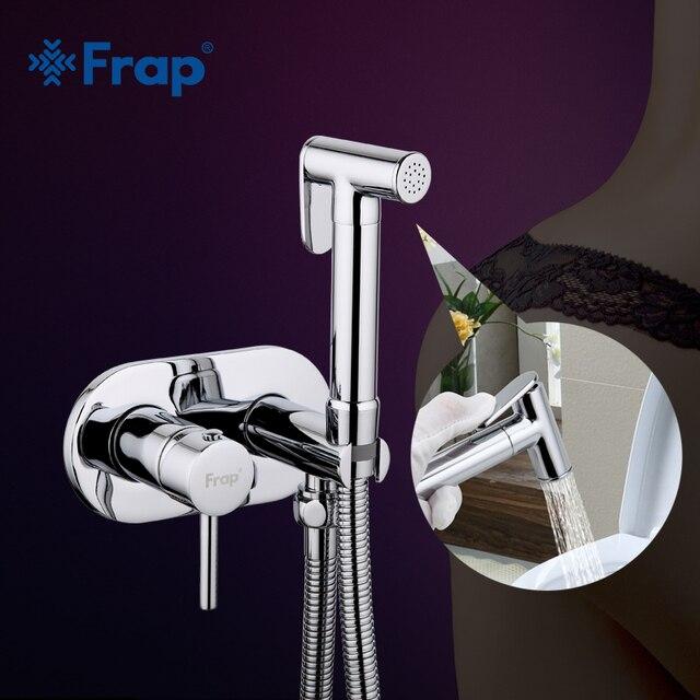 Frap Bidet Faucet Brass Shower Tap Washer Mixer Muslim Shower Ducha ...