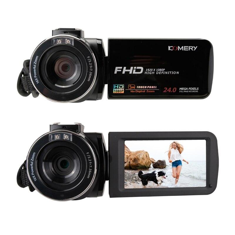 KOMERY nouveautés caméra vidéo caméscope 3.0 pouces IPS HD écran tactile réel 1080 P prise en charge télécommande caméra d'origine - 4