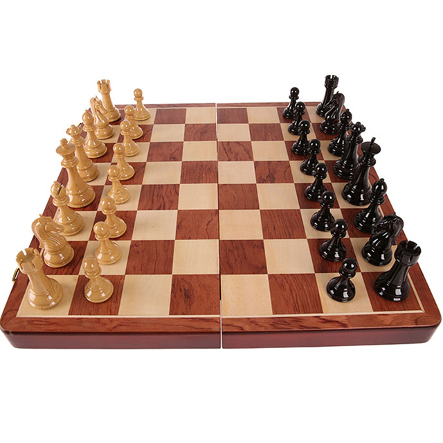 Buy Best Folding Portable Chess Board With 57 mm Squares 53cm * 53cm Size  Wood High Quality-