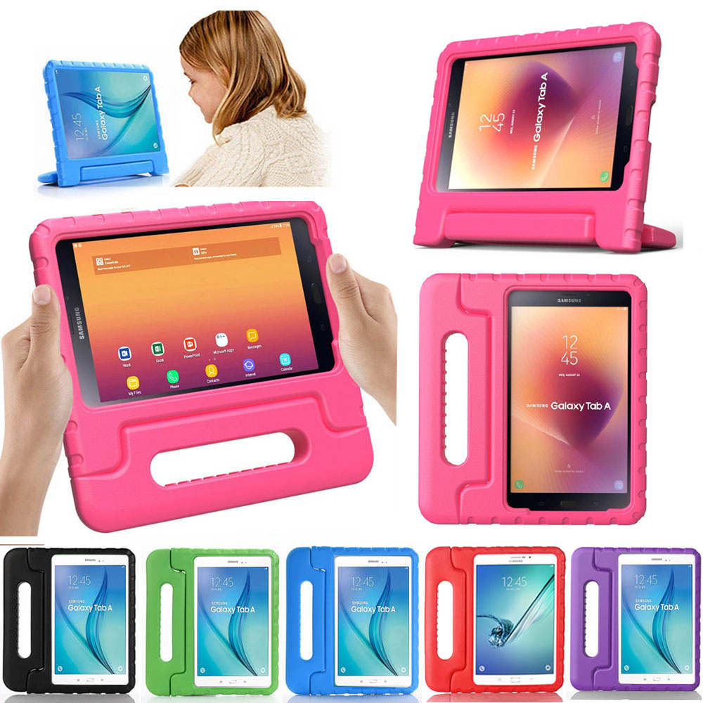 Kids Children Shockroof Case For Samsung Galaxy Tab A 8.0 Inch SM-T380 T385 2017 EVA Foam Tablet Case Handle Stand Cover
