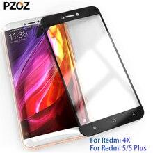 PZOZ xiaomi redmi 4x5 plus szkło hartowane osłona na ekran prime redmi 4x szkło ochronne przezroczysty telefon xiomi redmi 5 film