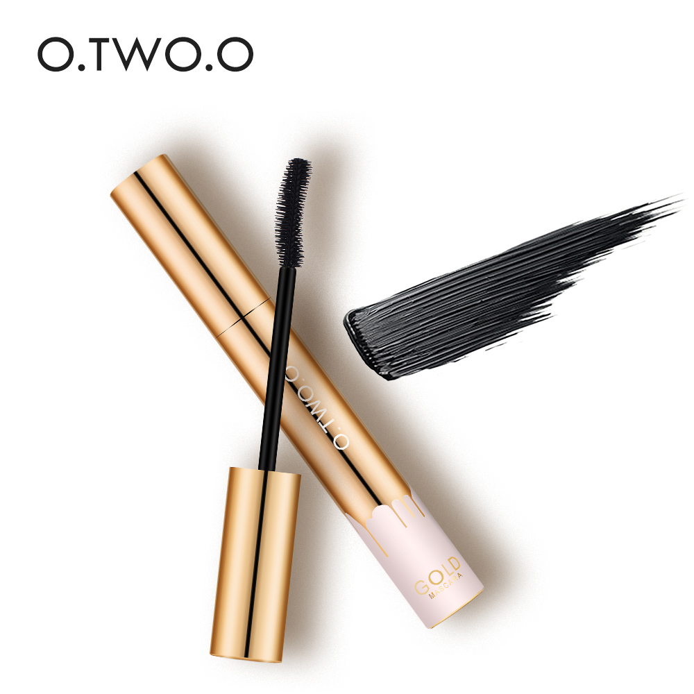 O.TWO.O 3D Mascara Allungamento Nero Lash Extension Ciglia Eye Lashes Spazzola Beauty Makeup Long-wearing Mascara Color Oro