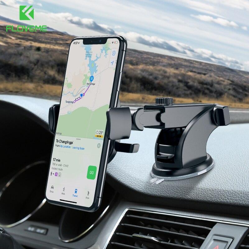 FLOVEME Windschutzscheibe Auto Telefon Halter Für iPhone 7 X XS Samsung 360 Dashboard Handy Ständer Halter in Auto Halterung telefon tutucu