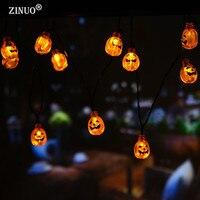 ZINUO Halloween Decoration Pumpkin Fairy Light Solar Powered Pumpkin LED String Light Lanterns Lamp For DIY