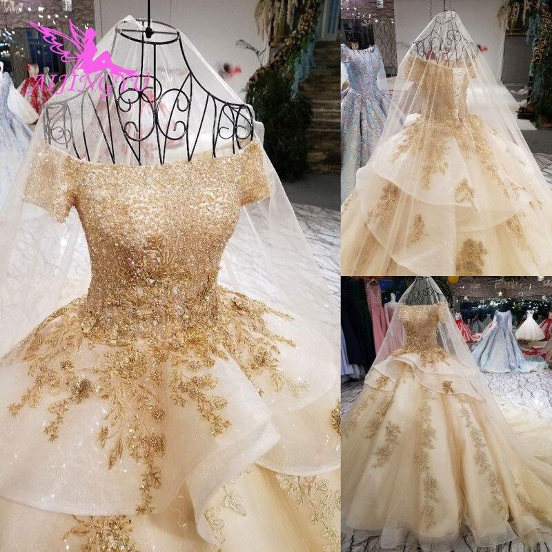 AIJINGYU nouvelle robe de mariée robe Boutiques blanches 2019 dubaï mariée musulmane princesse Suzhou robe mariage gothique
