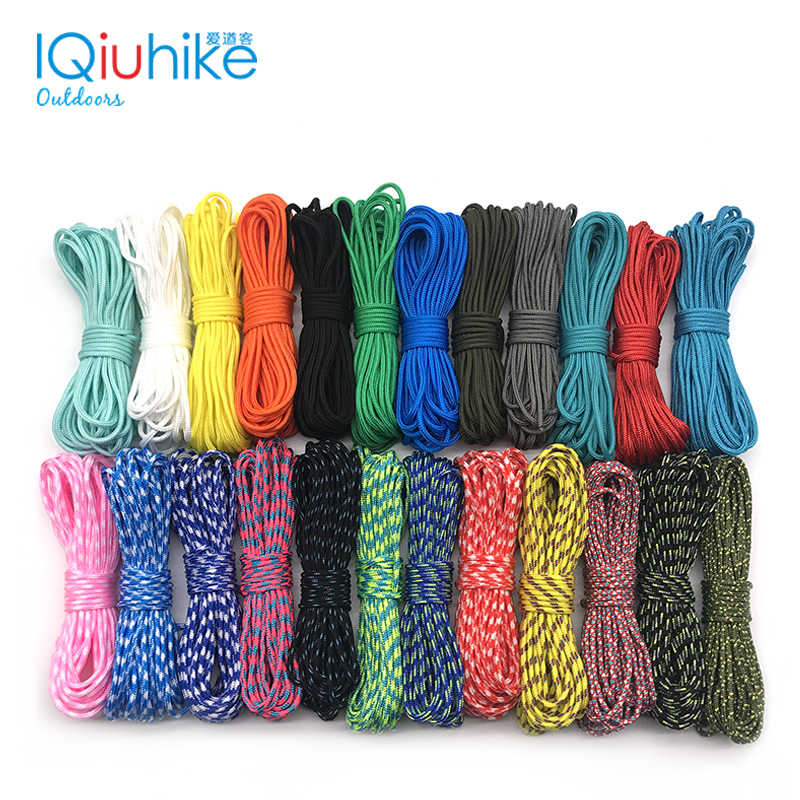 2020 새로운 100 색상 Paracord 2mm 100 FT,50FT ,25FT 하나의 스탠드 코어 paracord Rope Paracorde Cord For Jewelry Wholesale