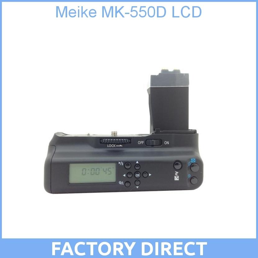 Meike MK-550D MK 550L LCD Battery Grip For Canon for EOS 550D 600D 650D 700D DSLR cameras ismartdigi lp e6 7 4v 1800mah lithium battery for canon eos 60d eos 5d mark ii eos 7d