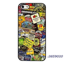 Beer brands collage case for iPhone 5 6S Plus 7 7 Plus & Samsung Galaxy S4 S5 S6 S7 edge Note 3 4 5