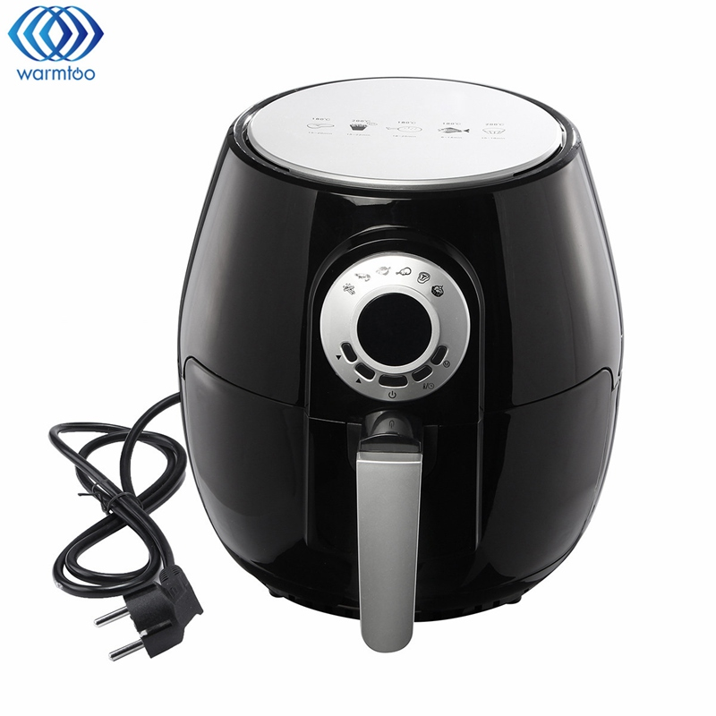 3L Electric Air Fryer Oil-free Fryer Intelligence Chicken French Fries Machine Display 220V 1400W EU Plug Kitchen Appliances home healthy non stick electric deep fryer smokeless electric air fryer french fries machine for home using af 100 1pc