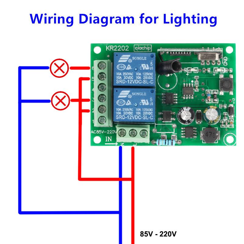 433-Mhz-Universal-Wireless-Remote-Control-Switch-AC-85V-250V-110V-220V-2CH-Relay-Receiver-Module (4)