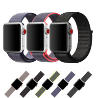 ASHEI New Sport Loop Bands For Apple Watch Series 3 Band Breathable Woven Nylon Replacement Strap