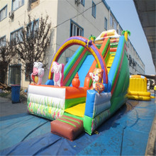 customized inflatable slide font b bouncer b font with blower YLW 172