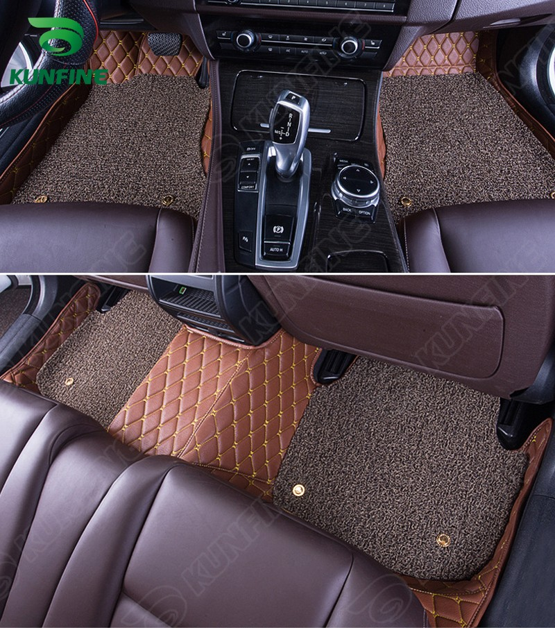 ФОТО Top Quality 3D car floor mat for VW Tiguan  foot mat car foot pad with One Layer Thermosol coil Pad 4 colors  Left hand driver