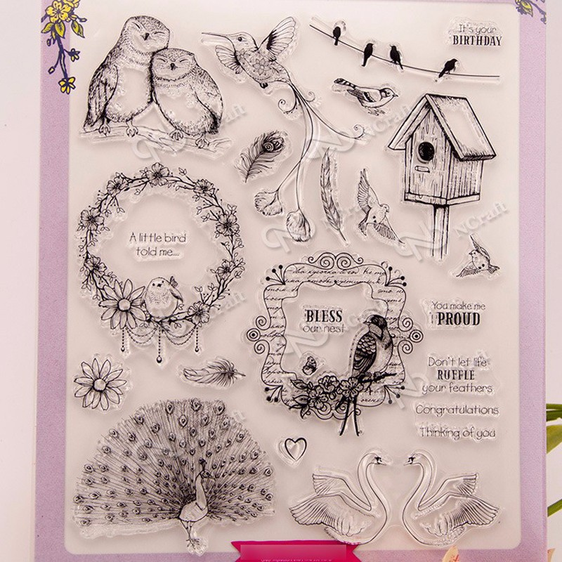 bird Clear Silicone Stamp for DIY scrapbooking/photo album Decorative craft lovely animals and ballon design transparent clear silicone stamp for diy scrapbooking photo album clear stamp cl 278